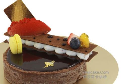 法式巧克力塔_杭州酷德西点蛋糕咖啡培训学校