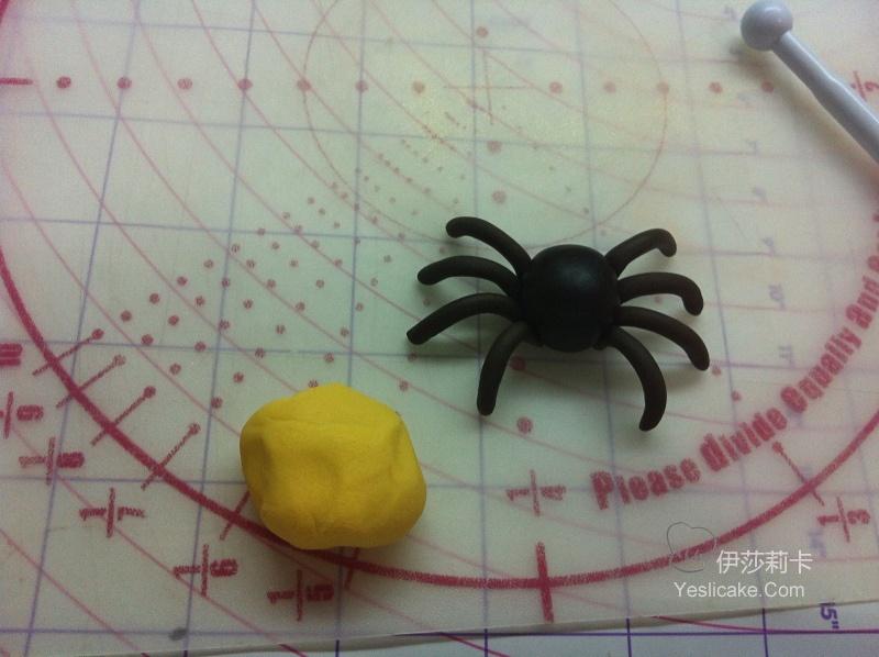 翻糖饰品--蜘蛛制作教程.