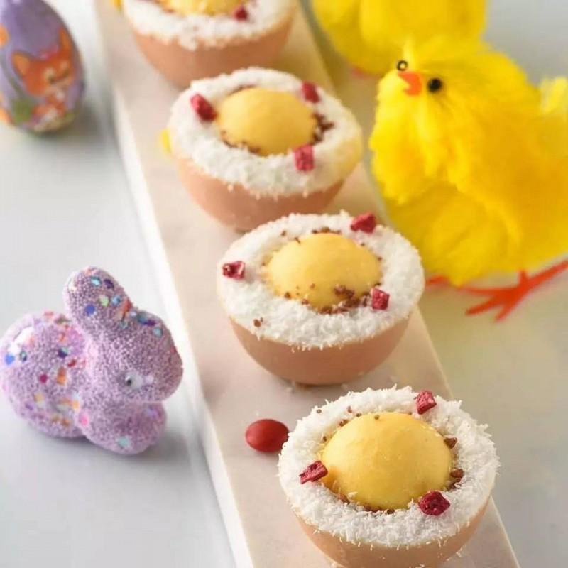 利用蛋壳做造型,制作复活节小甜点