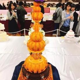 2017 Japan Cake Show --翻糖婚礼蛋糕