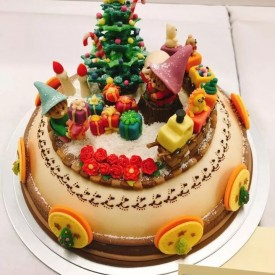 2017 Japan Cake Show --杏仁膏蛋糕